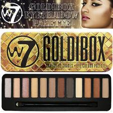 W7 Cosmético goldibox Paleta de Sombra de Ojos Brillo Mate Browns colores naturales de estaño