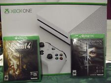 Microsoft Xbox One S 500GB Console Gaming Bundle System - Fallout 4 Dishonored 2