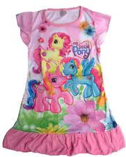 Pyjamas roses à longueur de manches manches 3/4 en polyester pour fille de 2 à 16 ans