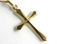 ECHT GOLD *** Kreuz Anhänger 28 mm, glänzend