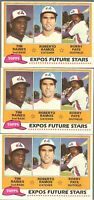 1981 TOPPS EXPOS FUTURE STARS #479 TIM RAINES ROOKIE MONTREAL EXPOS LOT OF 3