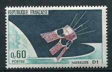 FRANCE 1966 timbre 1476, ESPACE, SATELLITE D1, neuf**