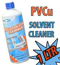 Solvant Nettoyant pvc PVC PVCU portes fenêtres et vérandas Chanlattes nettoyage 1ltr