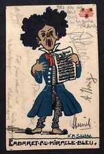 101139 AK Karlsruhe Cabaret Blaues Wunder Cabaret au Miracle Bleu Künstlerkarte