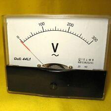 Volt Meter 300V AC Analog Voltmeter 240V Voltage Panel Display Generator 44L1