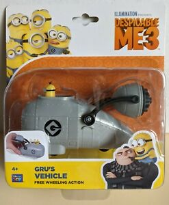 DESPICABLE ME 3 - GRU'S VEHCILE - FREE WHEELING ACTION - THINKWAY TOYS - NEW