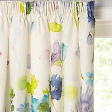 bluebellgray Tetbury Pair Lined Pencil Pleat Curtains Multi W167cm D137cm