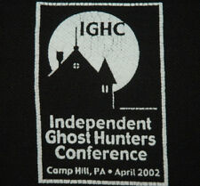 RARE Independent Ghost Hunters Men's XL POLO SHIRT Paranormal OCCULT X Files Vtg