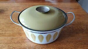 Vintage 1950s Catherineholm Lotus Enamelware Lidded Casserole Pot