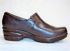 Portlandia Premium Eco-Comfort  Leather Professional Clogs Chocolate Shoes 42