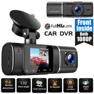 TOGUARD 1080P Front Inside Dual Dash Cam Car Driving Recorder Camera NightVision