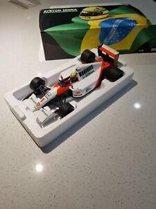 Aryton Senna McLaren Honda MP4/6 1991 World Champion F1 Car Minichamps 1:18