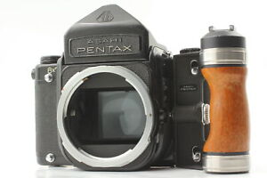"""Exc+5 w/ GRIP"" Asahi Pentax 6x7 67 Eye Level Mirror up body From JAPAN #190"