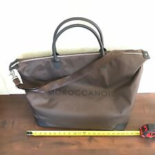 Brand New Moroccanoil Jumbo Size Brown Carry On Duffle Travel Tote Stylist Bag