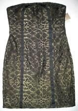 AIDAN MATTOX 12 Black $190.00 CE Gold Cocktail Party Strapless Dress NWT New 12
