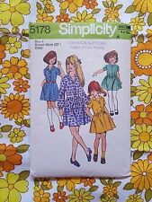 SIMPLICITY 5178 sewing pattern CHECKED / COMPLETE 1973 vintage retro