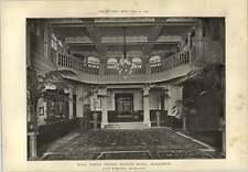 1903 North British Station Hotel Edinburgh Entrance Hall
