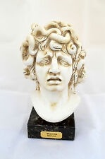 Medusa Ancient Greek Snake headed Monster marble based sculpture statue bust