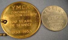 Vtg. Cincinnati 1953 YMCA Key Chain & T-11 Unit Parking Token.
