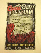 KID ROCK & CYPRESS HILL Coors Light Mountain Jam tee XL 2004 T shirt Nickleback