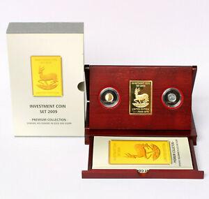 Investment Coin Set 2009 Malawi 2 Münzen Gold und Silber je 1,24 g Springbock