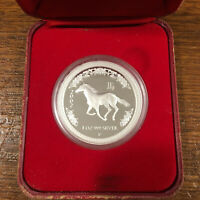 2002 Lunar Year of The Horse 1oz Silver Proof Coin - Australia Perth Mint