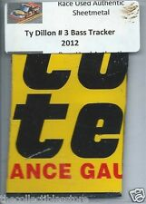 TY DILLON BASS TRACKER TRUCK SERIES AUTHENTIC NASCAR RACE USED SHEETMETAL #5