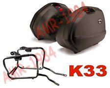 KIT VALIGIE LATERALI K33 + TELAIO + KIT  YAMAHA FZ6 04-06  PLX351
