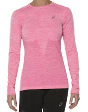 Asics Women's Running Top Seamless Long Sleeve Top - Pink - New