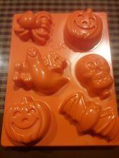 Lot of 2 Halloween Jell-o Jiggler Mold Trays Bat Ghost Pumpkin Skull Spider