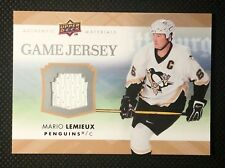 MARIO LEMIEUX - 2007/08 UPPERDECK SERIES 2 GAME USED JERSEY CARD. GJ2-ML