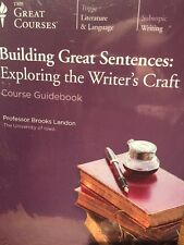 Teaching Co Great Courses DVD BUILDING GREAT SENTENCES Writer's Craft NEW