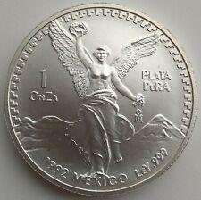 1992   Mexican Libertad 1 Onza Plata Pura