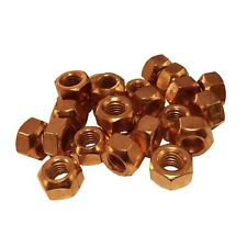 M8 Copper Flashed Exhaust Manifold Nuts 8mm x 1.25 Pitch High Temperature
