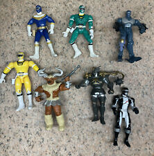 Lot Of Vintage Mighty Morphin Power Rangers Action Figures Bandai