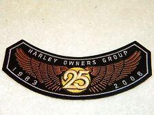 1983 to 2008 HARLEY DAVIDSON OWNERS GROUP HOG MEMBER PATCH BADGE MOTORCYCLE VEST
