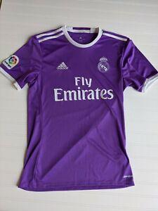 Real Madrid Adidas 2016/17 Away Jersey Football Soccer Shirt Purple Mens SMALL