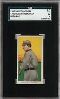1909-11 T206 HOF Roger Bresnahan With Bat Sweet Caporal 350 SGC 60 / 5 EX