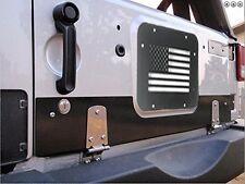Black Steel USA Flag Tailgate Kit Bracket Plate Cover for Jeep Wrangler JK 07-17