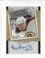 2006-07 Beehive Signature Scrapbook Brad Boyes AUTOGRAPH Bruins