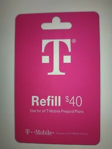 $40 T-MOBILE PREPAID REFILL DIRECT to PHONE  GET IT TODAY!  TRUSTED SELLER