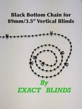 89mm Black Bottom Chain 100 clips