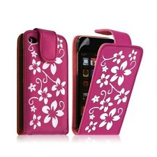 Housse coque étui pour Apple Ipod 4G couleur rose fuschia avec motifs fleurs + f