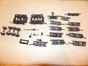 Lot of HO Shay Logging Locomotive Trucks Parts