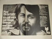 Paul McCartney Beatles Linda Lennon Allan Klein Greene clippings Germany 1970s
