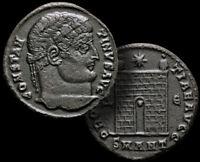 CONSTANTINE l. The GREAT/ Emperor 307-337 AD Follis Bronze Coin +COA, RARE (R2)