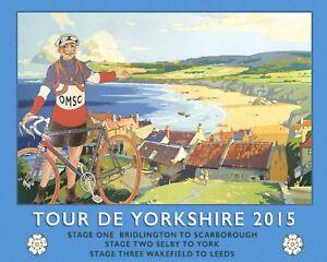 TOUR DE YORKSHIRE CYCLE RACE RACER CYCLIST BICYCLE METAL PLAQUE SIGN N456