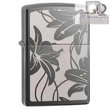Zippo 29426 Lilies Black Ice Lighter with PIPE INSERT PL
