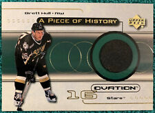 1999-00 Upper Deck Ovation Piece / History Brett Hull Game Used Puck Card POH-BH