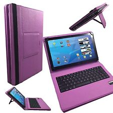 Bluetooth Deutsche Tastatur Huawei MediaPad T2 10.0 Pro Wifi  TABLET Tasche lila